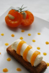 Cheesecake abricot romarin