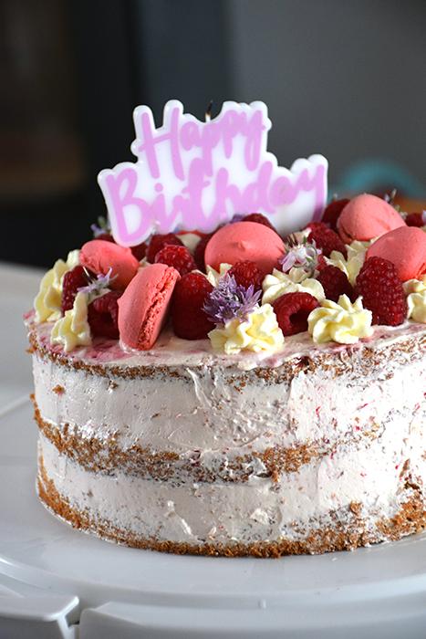Nude cake framboise