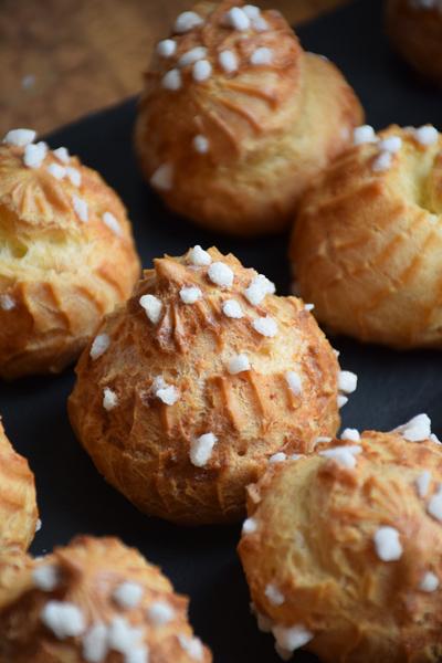 Chouquettes au sucre perlé