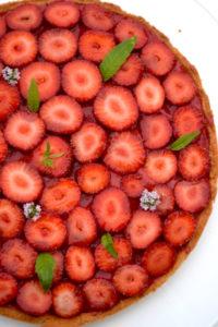 Tarte aux fraises et à la verveine
